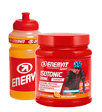 Enervit isotonic drink 420 g arancia + borraccia